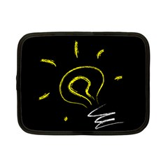 Bulb Light Idea Electricity Netbook Case (small) by HermanTelo