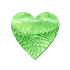 Wave Concentric Circle Green Heart Magnet by HermanTelo