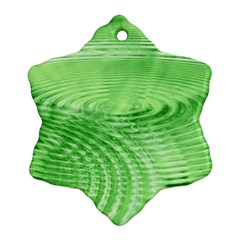 Wave Concentric Circle Green Ornament (snowflake)