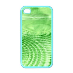 Wave Concentric Circle Green Iphone 4 Case (color) by HermanTelo