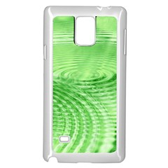 Wave Concentric Circle Green Samsung Galaxy Note 4 Case (white) by HermanTelo