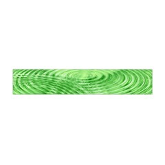 Wave Concentric Circle Green Flano Scarf (mini)