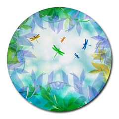 Scrapbooking Tropical Pattern Round Mousepads