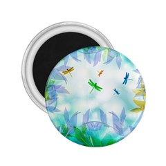 Scrapbooking Tropical Pattern 2.25  Magnets