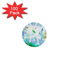 Scrapbooking Tropical Pattern 1  Mini Buttons (100 pack)