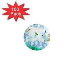 Scrapbooking Tropical Pattern 1  Mini Magnets (100 pack)