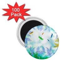Scrapbooking Tropical Pattern 1.75  Magnets (100 pack)