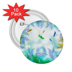 Scrapbooking Tropical Pattern 2.25  Buttons (10 pack)