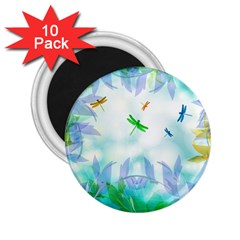 Scrapbooking Tropical Pattern 2.25  Magnets (10 pack)