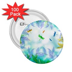 Scrapbooking Tropical Pattern 2.25  Buttons (100 pack)
