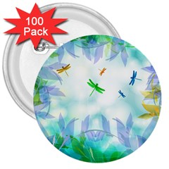 Scrapbooking Tropical Pattern 3  Buttons (100 pack)