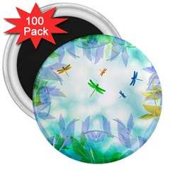 Scrapbooking Tropical Pattern 3  Magnets (100 pack)