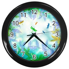 Scrapbooking Tropical Pattern Wall Clock (Black)