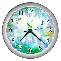 Scrapbooking Tropical Pattern Wall Clock (Silver)