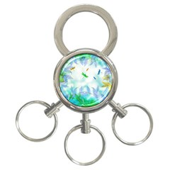 Scrapbooking Tropical Pattern 3-Ring Key Chain