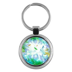 Scrapbooking Tropical Pattern Key Chain (Round)