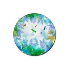 Scrapbooking Tropical Pattern Rubber Round Coaster (4 pack)
