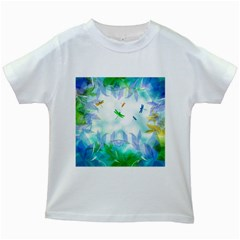 Scrapbooking Tropical Pattern Kids White T Shirts by HermanTelo