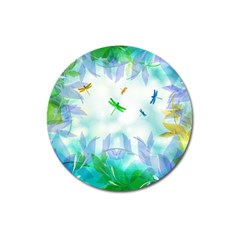 Scrapbooking Tropical Pattern Magnet 3  (Round)