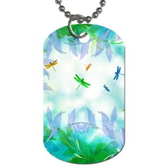 Scrapbooking Tropical Pattern Dog Tag (One Side)