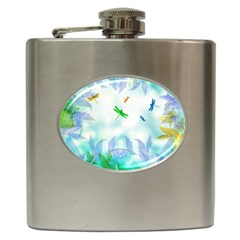 Scrapbooking Tropical Pattern Hip Flask (6 oz)