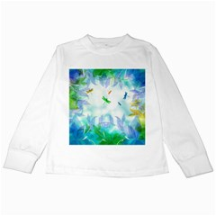 Scrapbooking Tropical Pattern Kids Long Sleeve T-Shirts