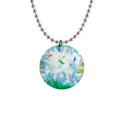 Scrapbooking Tropical Pattern 1  Button Necklace