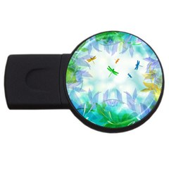 Scrapbooking Tropical Pattern USB Flash Drive Round (4 GB)