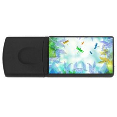 Scrapbooking Tropical Pattern Rectangular Usb Flash Drive by HermanTelo