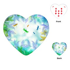 Scrapbooking Tropical Pattern Playing Cards Single Design (Heart)