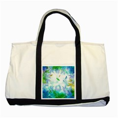 Scrapbooking Tropical Pattern Two Tone Tote Bag