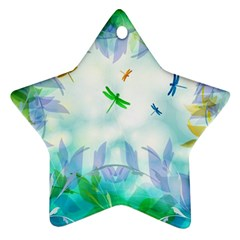 Scrapbooking Tropical Pattern Star Ornament (Two Sides)
