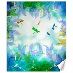 Scrapbooking Tropical Pattern Canvas 8  x 10
