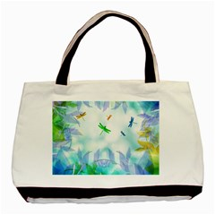 Scrapbooking Tropical Pattern Basic Tote Bag (Two Sides)