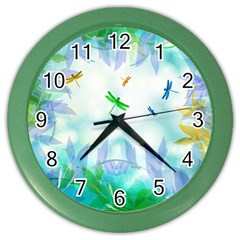 Scrapbooking Tropical Pattern Color Wall Clock