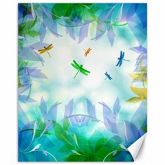 Scrapbooking Tropical Pattern Canvas 11  x 14