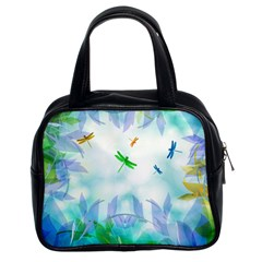 Scrapbooking Tropical Pattern Classic Handbag (Two Sides)
