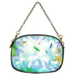 Scrapbooking Tropical Pattern Chain Purse (One Side)