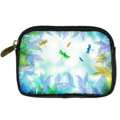 Scrapbooking Tropical Pattern Digital Camera Leather Case