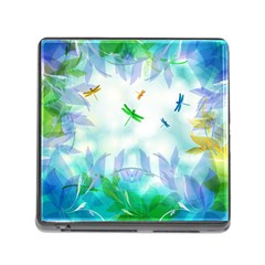 Scrapbooking Tropical Pattern Memory Card Reader (Square 5 Slot)