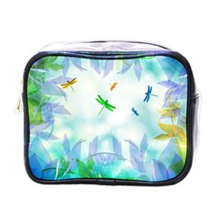 Scrapbooking Tropical Pattern Mini Toiletries Bag (One Side)