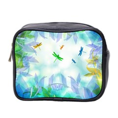 Scrapbooking Tropical Pattern Mini Toiletries Bag (Two Sides)