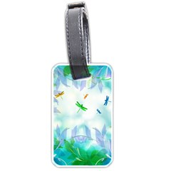 Scrapbooking Tropical Pattern Luggage Tag (two sides)