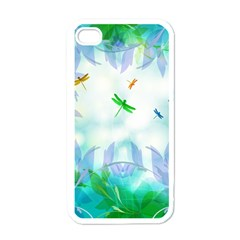 Scrapbooking Tropical Pattern iPhone 4 Case (White)