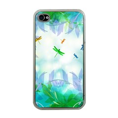 Scrapbooking Tropical Pattern iPhone 4 Case (Clear)