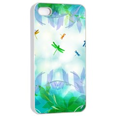 Scrapbooking Tropical Pattern iPhone 4/4s Seamless Case (White)