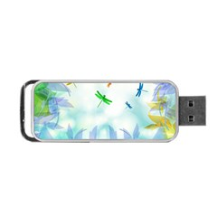 Scrapbooking Tropical Pattern Portable USB Flash (One Side)