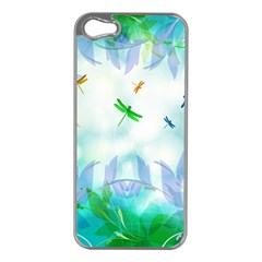 Scrapbooking Tropical Pattern iPhone 5 Case (Silver)