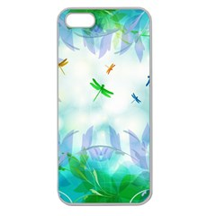 Scrapbooking Tropical Pattern Apple Seamless iPhone 5 Case (Clear)