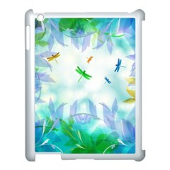 Scrapbooking Tropical Pattern Apple iPad 3/4 Case (White)